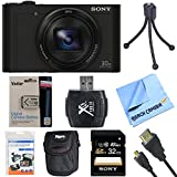 Cheap Sony Cyber-Shot DSC-WX500/B WX500B WX500 Digital Camera Black 32GB Bundle includes Cyber-Shot DSC-WX500 Digital Camera, screen protectors, compact carrying case, 32GB memory card, card reader, mini tripod, battery pack, HDMI cable and Beach Camera Cloth
