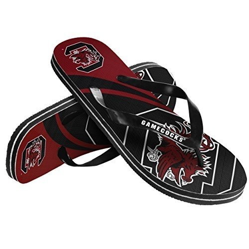 - 2015 NCAA College Unisex Big Logo Beach Summer Sandal Flip Flops (South Carolina Gamecocks, Large)