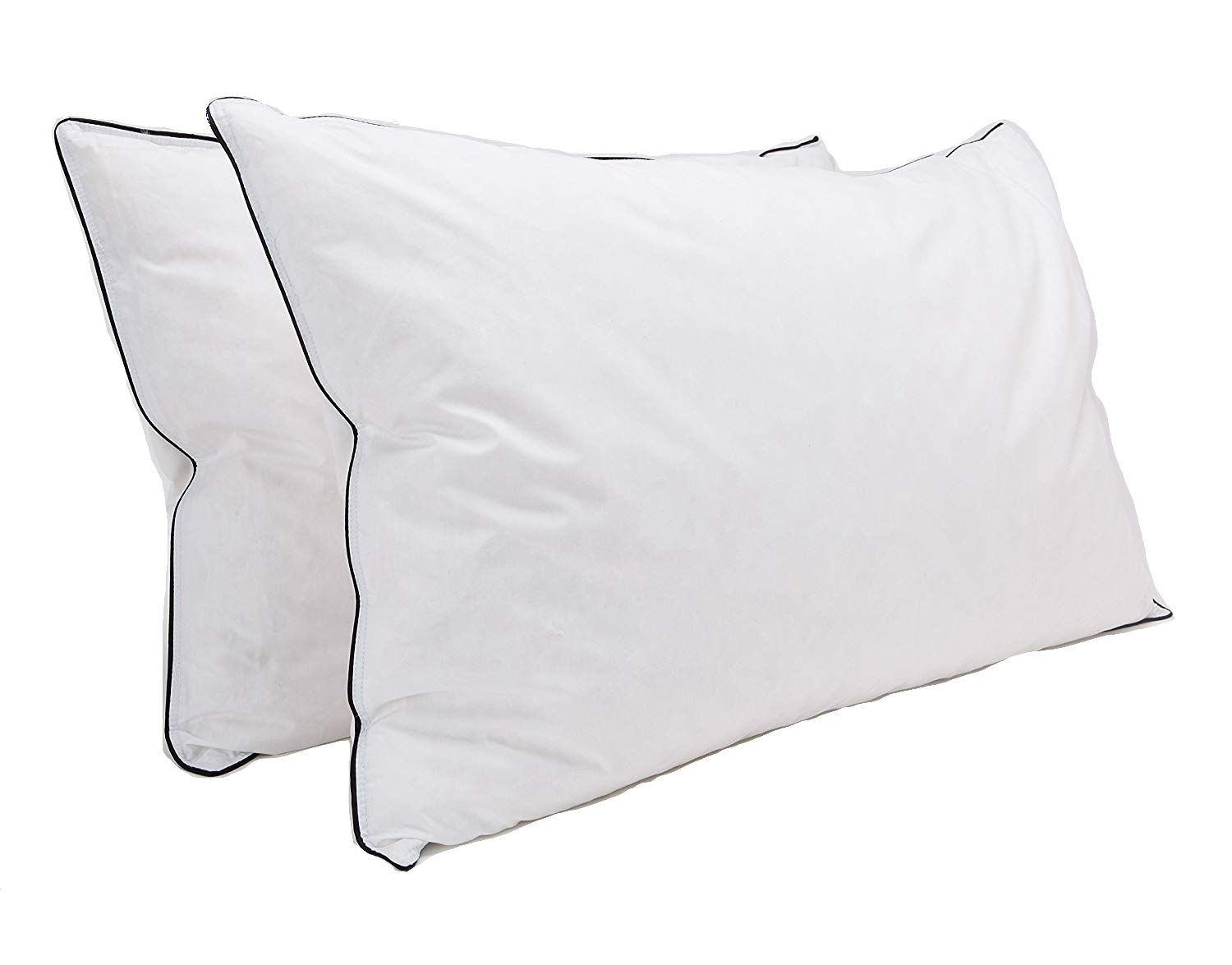 AmigoZone Luxury Duck Feather Pillows 100% Cotton Feather Proof Cover (Pack Of 4) Nights uk Ltd