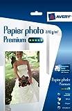 Avery 25 Feuilles de Papier Photo 270g/m  A4 - Impression Jet d'Encre - Brillant - Blanc (2739)