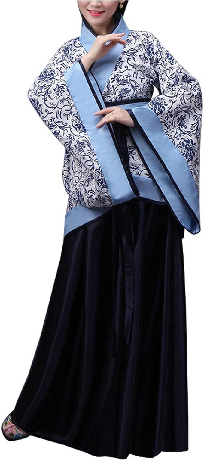 Xiedeai Clásico Antiguo Tradicional Actuaciones - Traje Tang Antiguo Ropa Tradicional de Estilo Chino Vestido Hanfu Disfraz de Cosplay: Amazon.es: Ropa y accesorios