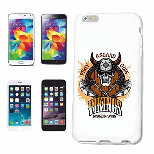 "cas de téléphone iPhone 7+ Plus ""SCANDINAVIAN VIKINGS ASGARD SCANDINAVIE VIKING SKULL VIKING CASQUE WIKI"" Hard Case Cover Téléphone Covers Smart Cover pour Apple iPhone en blanc"
