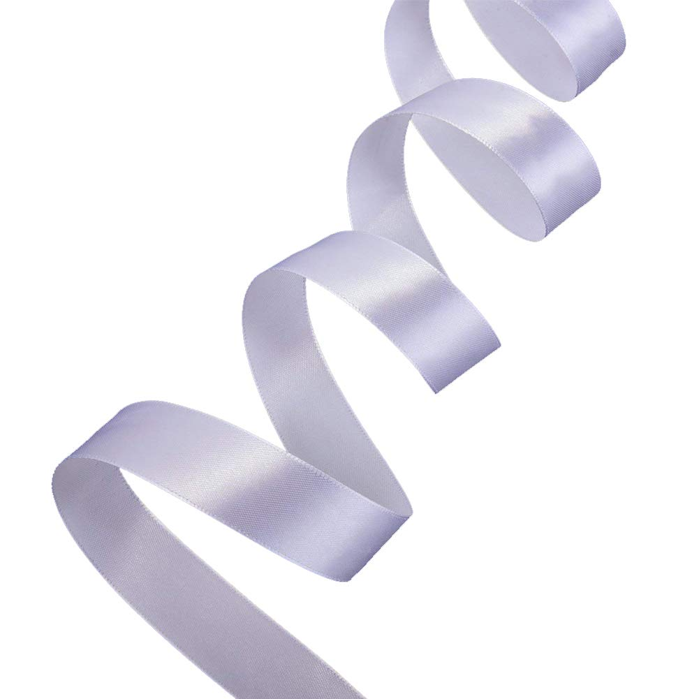 Cinta de grogr/én de 6 mm de ancho juego para envolver regalos Ribbonitlux boda y manualidades 012Plateado decoraci/ón de fiestas 029-blanco 22 metros aplicaciones de costura