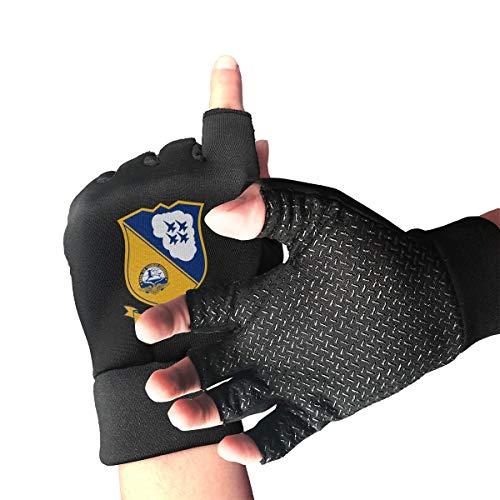 Blue Angels US Naval Flight Demonstration Squadron Mens/Womens Half Finger Anti Slip Sports Gloves