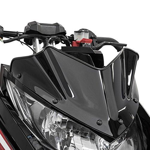 Yamaha SR Viper Extreme Low Snowmobile Windshield Black 7.7'