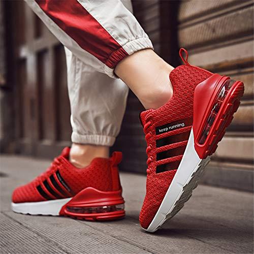 Sportivo 1 Rosso Ginnastica Air Scarpe Donna 46eu All'aperto Corsa Uomo Interior 36 Sneakers Casual Da nA6qxFH