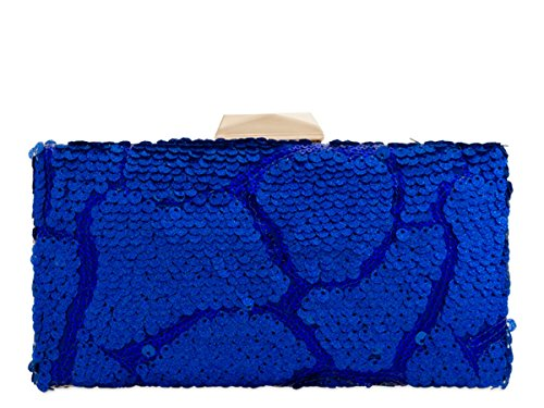 Sequin Prom Dressy Hand Party Bags Womens Hard N21 Blue Case Clutch Occasion Royal Ladies Evening gxwTCn5qI