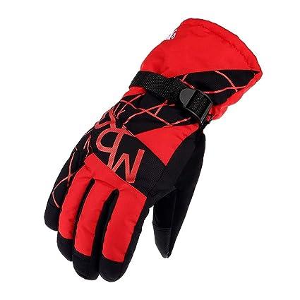 e53ce451a0 Guantes de esquí impermeables Impermeables para hombre Guantes  multifuncionales Invierno Cálido Snowboard Moto de nieve Clima