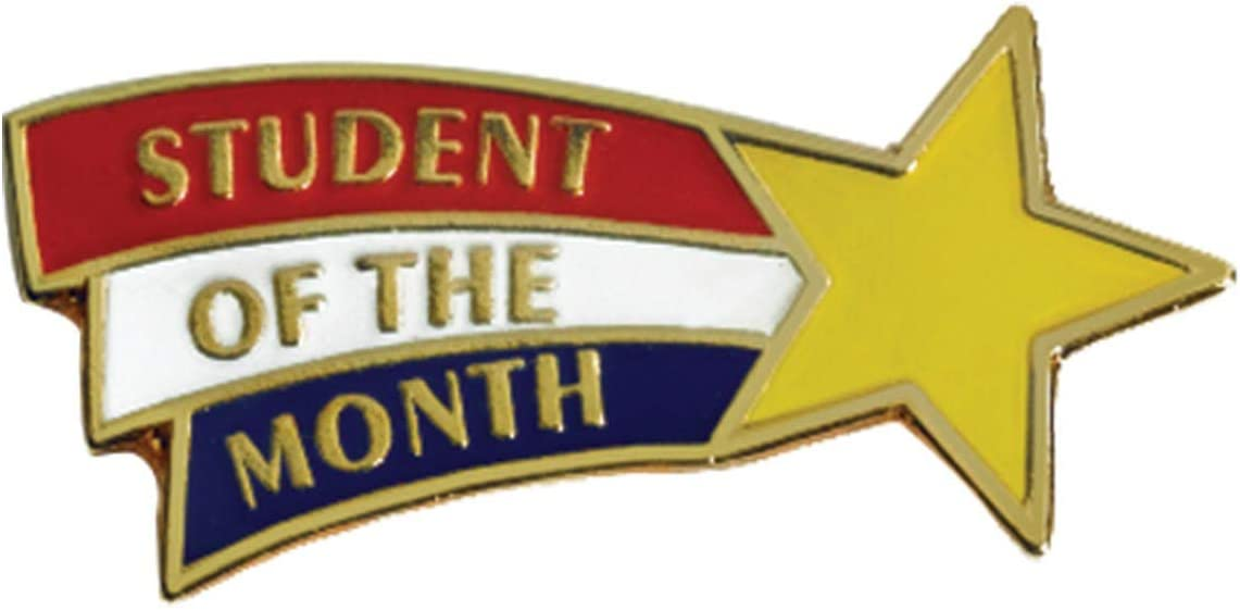 Amazon.com : TCDesignerProducts Student of The Month Shooting Star Award  Pin, Student Awards : Office Products