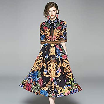 QUNLIANYI Vestido Fiesta Mujer Camisa de Verano para Mujer Falda ...