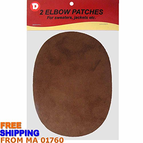 Faux - Suede Garment Iron-On Elbow Patches 4 1/2 x 5 1/2 in 2/Pkg - Brown