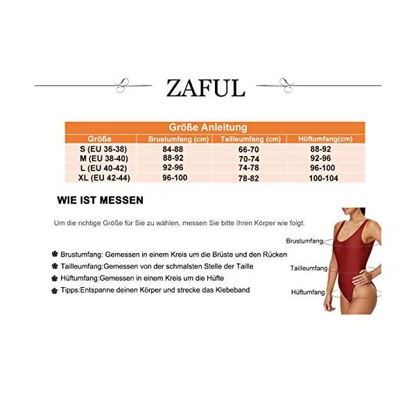 ZAFUL - Bikini da donna, imbottito, con motivo floreale, 2 pezzi 3 spesavip