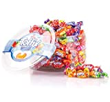 Toffix Assorted Fruity Filled Center Filled Hard Candy with Real Fruit Juice 2 lbs