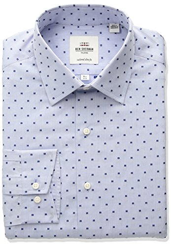 Ben-Sherman-Mens-Clip-Spot-Soho-Spread-Skinny-Fit-Dress-Shirt