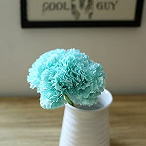 Riverbyland Artificial Flowers Light Blue Carnation 6 pcs