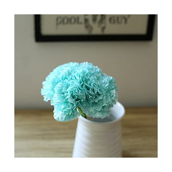 Riverbyland Artificial Flowers Light Blue Carnation 6 pcs