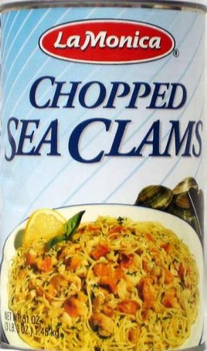 La Monica Chopped Clams, 51-Ounce