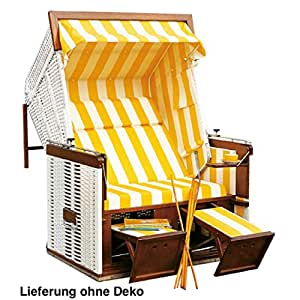 Sol Partner playa cesta Presidente 2plazas Camilla Modelo blanco/amarillo 70051012/60