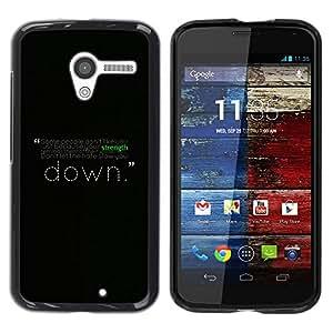 Be Good Phone Accessory // Dura Cáscara cubierta Protectora Caso Carcasa Funda de Protección para Motorola Moto X 1 1st GEN I XT1058 XT1053 XT1052 XT1056 XT1060 XT1055 // Motivation