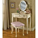 queen anne sofa table - Vanity Set, Charming Off-White Finish Lasts For Years, Elegant Queen Anne-Style Legs, Adjustable Oval Mirror Adds to Convenience, Full-Size Drawer for Handy Storage, Simple and Quick Assembly