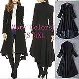 Digital baby Simple Metal Lapel Suit Cufflinks Fold Wool Coat Tails(Black,XXL(Thick Wool Coat))