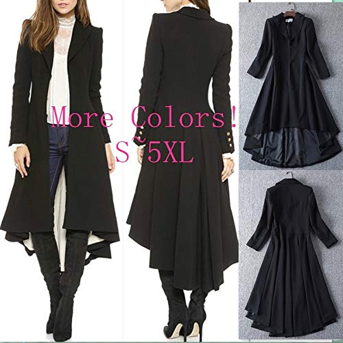 Digital baby Simple Metal Lapel Suit Cufflinks Fold Wool Coat Tails(Black,XXL(Thick Wool Coat)) by Digital baby (Image #10)