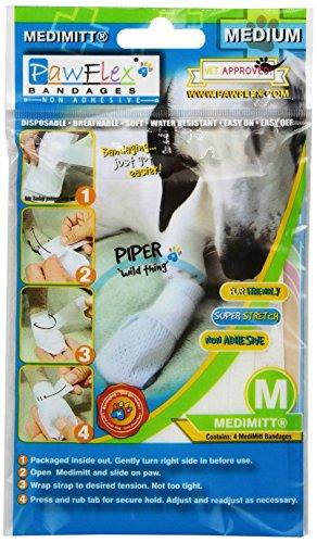 Pawflex Bandages Medimitt Bandages for Pets (Pack of 4) Medium