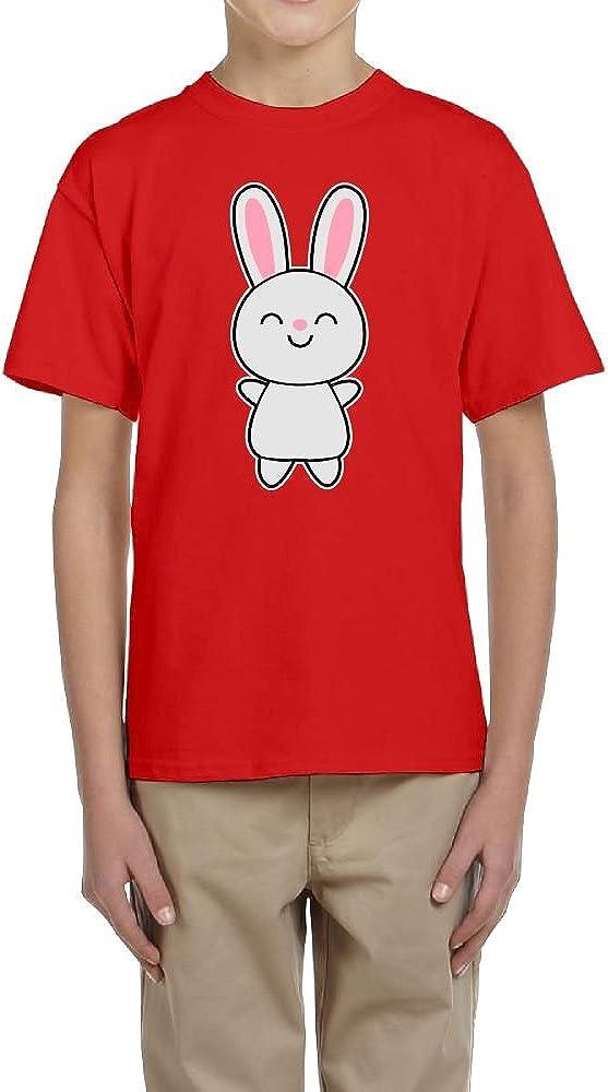 Fzjy Wnx Short Sleeve T-Shirt Youth Crew Cute Rabbit Bunny for Boys
