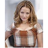Becki Newton 8 Inch x10 Inch Photograph Ugly Betty Guiding Light August Rush Wearing Brown/White Dress kn