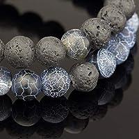 4a4df28af7aab Soul Statement Lava Beads Friendship Bracelets: Beaded Unisex ...