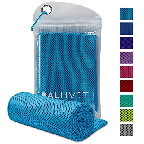 Balhvit Cooling Towel, Cool Towel for Instant Cooling Relief, Chilling Neck Wrap, Ice Cold Scarf For Men Women, Microfiber Bandana - Evaporative Chilly Towel For Yoga Golf Travel