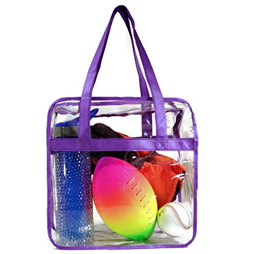 Heavy Duty Clear Plastic Tote Bags - 5