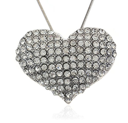 Soulbreezecollection Valentine's Day Heart Pendant Necklace Designer Fashion Jewelry Charm for Mom Women