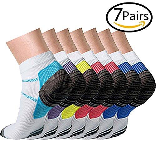Compression Socks (3/7 Pairs),15-20 mmhg is BEST Athletic & Medical for Men & Women, Running, Flight, Travel, Nurses