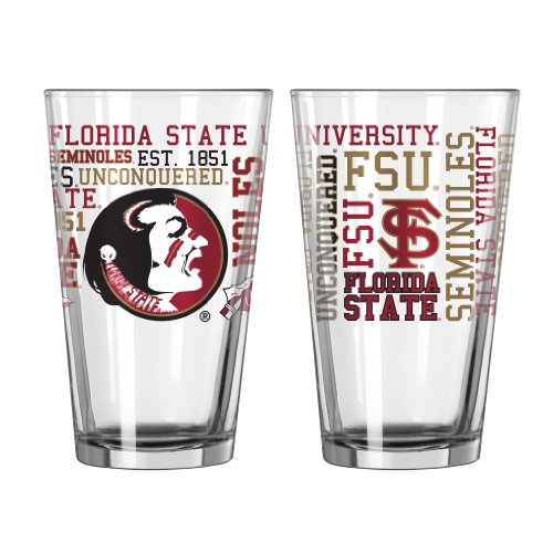 NCAA Florida State Seminoles Pint Glass, 16-ounce, 2-Pack