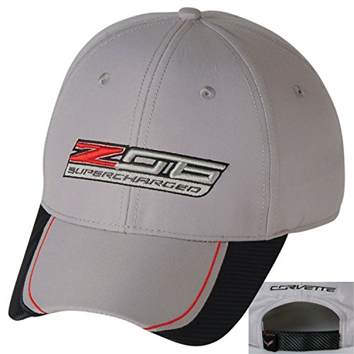 (Gregs Automotive ZO6 Corvette Hat Cap Chevrolet Chevy Gray - Bundle with Driving Style Decal )
