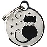 GoTags Pet ID Designer Dogs & Cats Starry Moon Pet Tags...