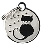 GoTags Pet ID Designer Dogs & Cats Starry Moon Pet Tags, 1'' x 1''