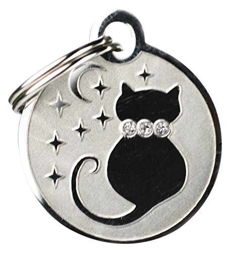 GoTags Pet ID Designer Dogs & Cats Starry Moon Pet Tags, 1