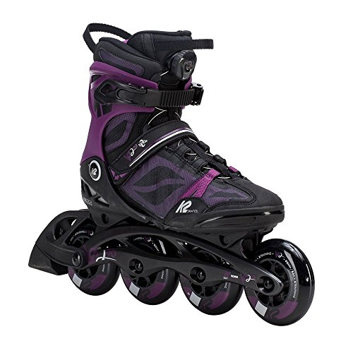 90 Boa Inline Skate, Black Purple, 11 ()
