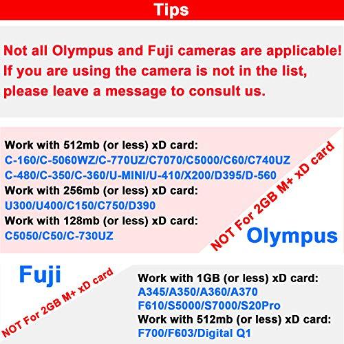xD-Picture Card 2GB (Type M+) 2 GB XD Flash Memory Cards for Olympus Fuji Fujifilm Digital Camera