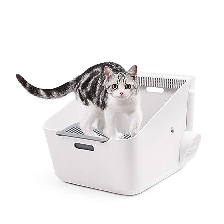 Welhome Caja de Arena para Gatos, de inducción Semicerrado ...