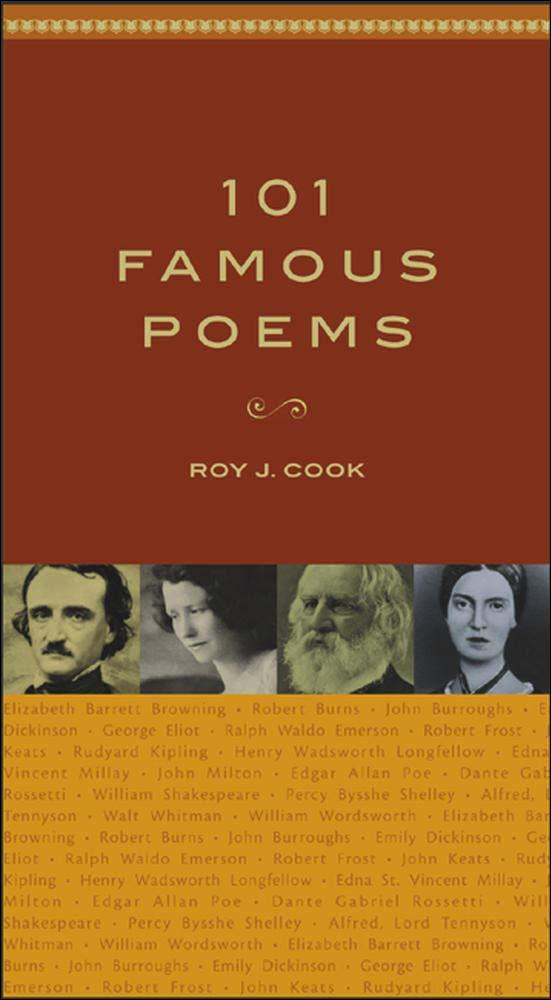 Amazon Com 101 Famous Poems 9780071419307 Roy J Cook Books