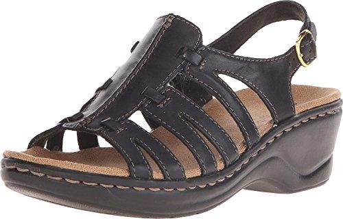 CLARKS Women's, Lexi Marigold Mid Heel Sandal Black 7.5 M Sculpted Heel Platform Sandal