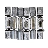 Iconikal 8.75-inch Christmas - Holiday Crackers 6-Pack (Silver)