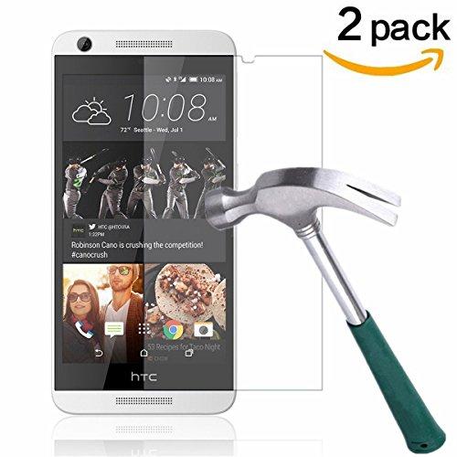 HTC Desire 626s/626 Screen Protector,TANTEK [Bubble-Free][Anti-Scratch][Anti-Glare][Anti-Fingerprint] Premium Tempered Glass Screen Protector for HTC Desire 626s/626,[Lifetime Warranty]-[2Pack]