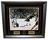 Bobby Orr Boston Bruins Signed Autographed Flying Goal 16x20 Framed GREAT NORTH