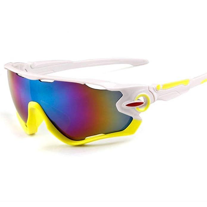 mi ji Gafas de Sol Deportivas Gafas de Ciclismo de Protección UV400 con 5 Lentes Intercambiables para Ciclismo, Béisbol, Pesca, esquí, Golf: Amazon.es: ...