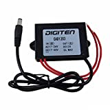 DIGITEN Waterproof 24V AC DC to 12V DC 3A Power Converter Adapter for CCTV Camera Security
