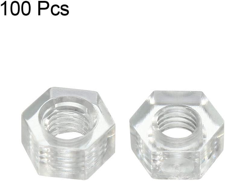 Black M5x0.8mm Metric Coarse Thread Hexagon Nuts 50 Pcs uxcell Nylon Hex Nut